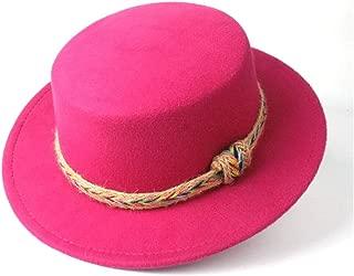 Hat Size 56-58CM Men Women Flat Top Hat With Belt Winter Wide Brim Hat Outdoor Travel Fascinator Hat Casual Church Hat Fashion Hat