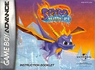 Spyro Season of Ice GBA Instruction Booklet (Game Boy Advance)