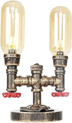 Belief Rebirth Industrial Pipe Table Lamp 3 Lights, Vintage