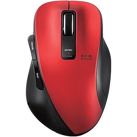 エレコム ワイヤレスマウス Bluetooth BlueLED 5ボタン Mサイズ レッド M-XG1BBRD