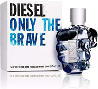 Diesel Only The Brave Eau De Toilette Spray for Men, 2.5 Ounce