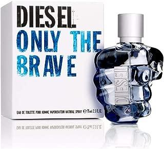 Diesel Only The Brave Eau De Toilette Spray for Men, 2.5 Ounce