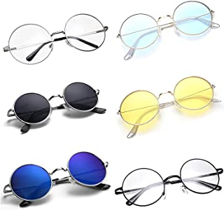 CREEK Unisex Adult Round Sunglasses (Assorted Frame, Assorted Lens) (Free Size) - Pack of 6