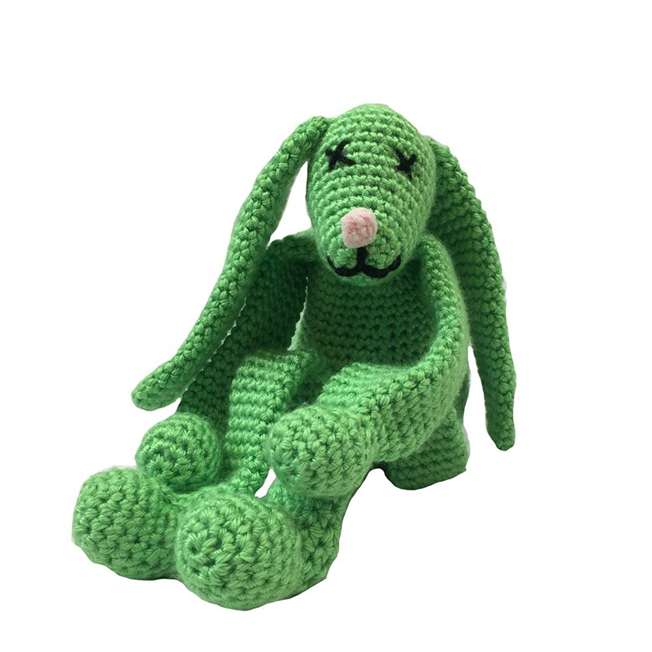Creative World of Crafts Knitty Critters - Potting Shed Bunnies - Limelight (A Complete KNITTY Critters Crochet KIT)