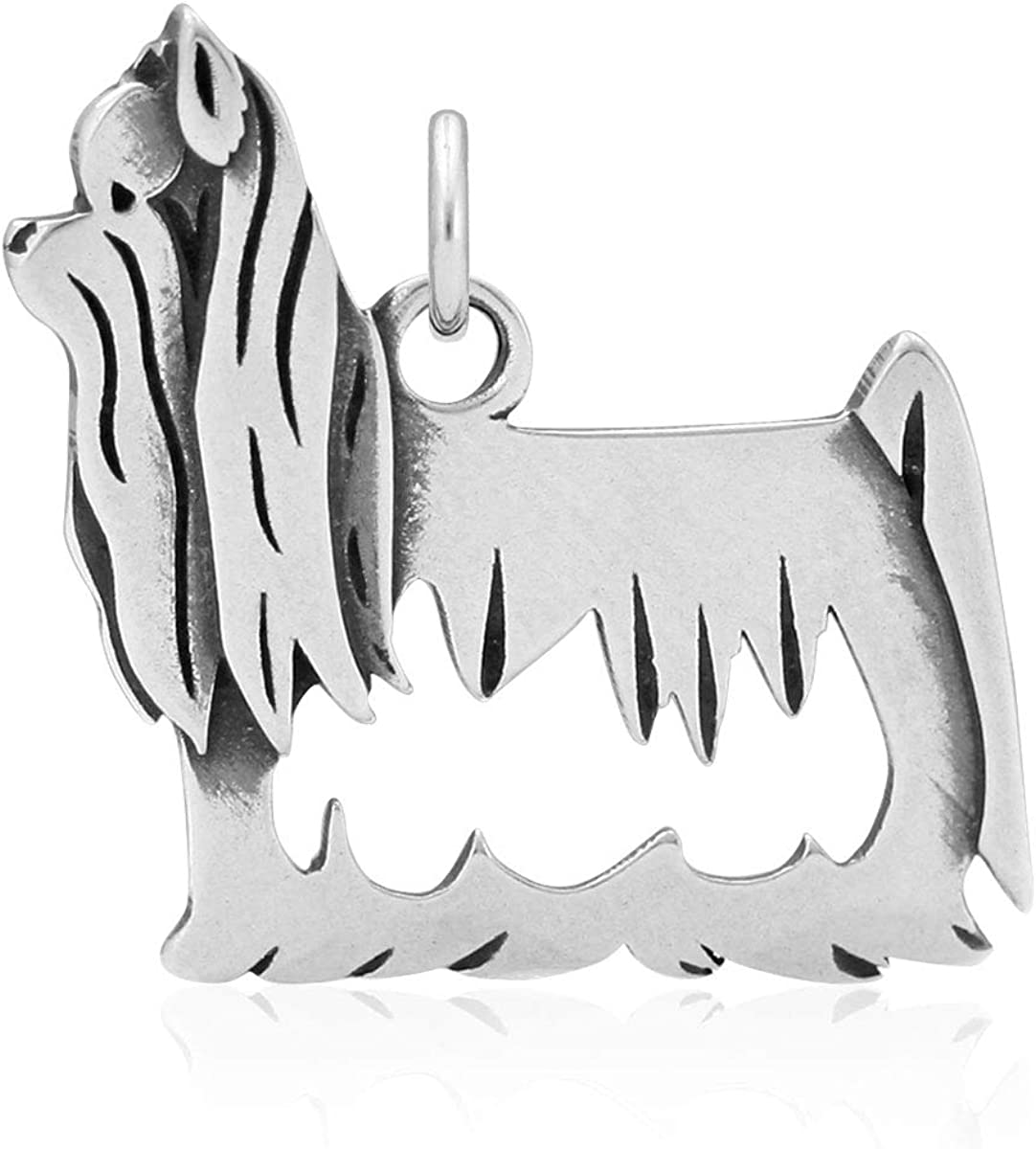 Showcut Body Sterling Silver Yorkshire Terrier Pendant