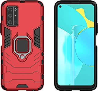 YEESOON Honor 30S Case, Dual Layer Hybrid Shockproof Protective Case with Ring Stand & Magnetic Car Mount Function Back Co...