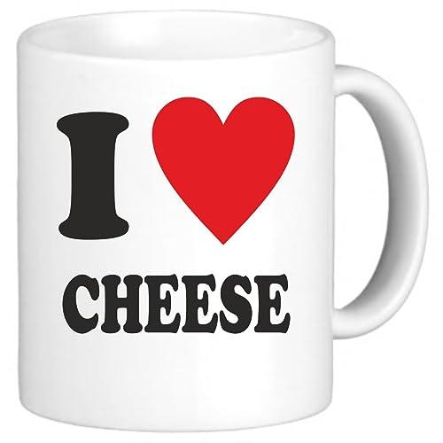 Festival-Fashion I Love Heart Cheese Novelty Mug Cup Gift Office Secret Santa