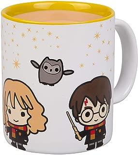 Harry Potter Chibi Ceramic Coffee Mug - Harry, Hermione and Ron Chibi Design - 11 oz