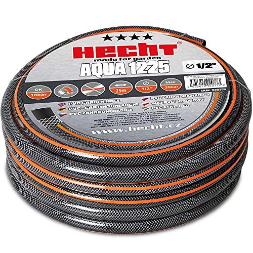 Hecht 25m premium Schlauch Set 13mm (1/2 Zoll) – formstabil, trittfest & UV-Beständig – Gartenschlauch / Wasserschlauch aus hochwertigem Spiralgewebe – 30 bar Berstdruck