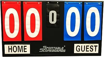 Sportable Scoreboards Portable Tabletop Flip Scoreboard