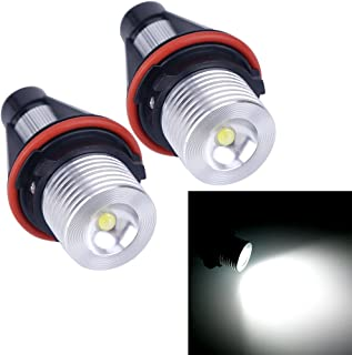 VANJING 2PCS 5W LED Angel Eyes Halo Ring Marker Light Bulb Compatible for BMW 5 6 7 Series X3 X5 (Fit E39 E53 E60 E63 E64 E65 E66 E83) (5W, White)