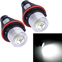 VANJING 2PCS 5W LED Angel Eyes Halo Ring Marker Light Bulb Compatible for BMW 5 6 7 Series X3 X5 (Fit E39 E53 E60 E63 E64 E65 E66 E83) (5W, White)