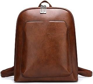 Xieifuxixxxbbnv حقيبة ظهر نسائية جلدية حقائب ظهر نسائية للسفر حقيبة كتف حقائب يومية كاجوال للسيدات (اللون: معدني)