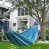 Best Swing Bed - JEVAL Portable Swing Cotton Stripe With Strong Rope Review
