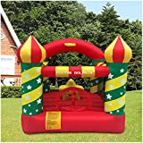 Mosunx Inflatable Bouncer House, Kids Inflatable Bouncer House with Air Blower, Indoor Outdoor Bounce House for Birthday Party (Red, 7.4 x 7.2 x 7 Feet (LxWxH))