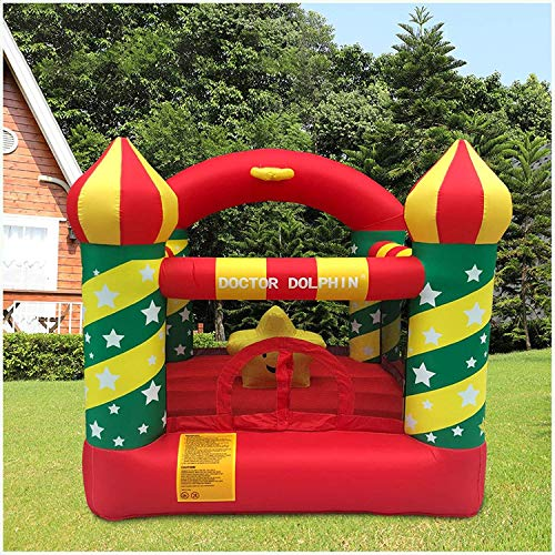 Mosunx Inflatable Bouncer House, Kids Inflatable Bouncer House with Air Blower, Indoor Outdoor...