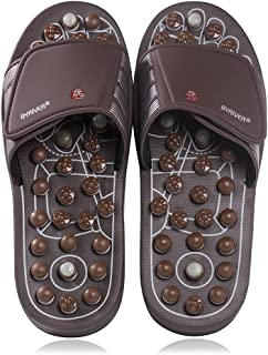 BYRIVER Acupressure Foot Massager Jade Stone Indoor Massage Slippers Shoes Reflexology Sandals for Men Women(03S)