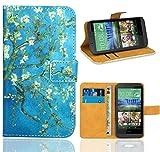 FoneExpert® HTC Desire 510 Handy Tasche, Wallet Case Flip Cover Hüllen Etui Ledertasche Lederhülle Premium Schutzhülle für HTC Desire 510