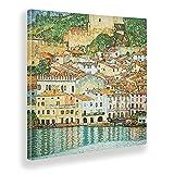 Giallobus - Cuadro - Gustav Klimt - Malcesine sul Garda - Lienzo - 70x70 - Listo para Colgar - Cuadros Modernos para el hogar