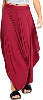 Ladies Plain Ali Baba Harem Lagenlook Pant Women Elasticated Waist Party Trouser
