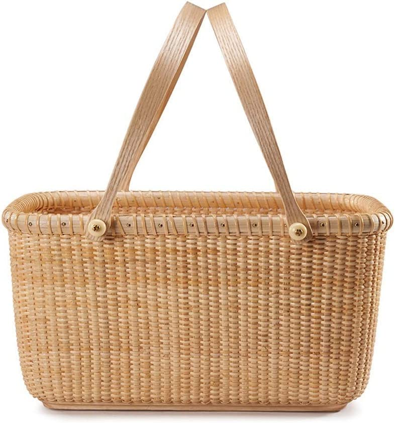 GUOCAO - Picnic 55% OFF Tucson Mall Basket Rattan Food for Suitable Storage