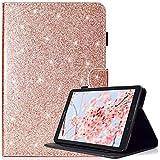 Custodia Samsung Galaxy Tab E 9.6 con penna gratuita, Glitter Bling Pelle Premium PU, Antiurto Supporto TPU interno morbido Smart Cover per Samsung Galaxy Tab E 9.6-Inch SM - T560/SM- T561, Oro rosa