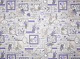 Schnitt Stoff 280x 290Fantasie Lavendel, 100% Baumwolle