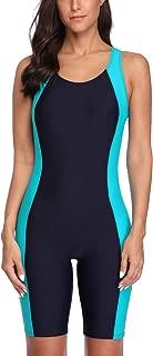 CharmLeaks Women Boyleg Swimsuit One Piece Racerback Athletic Bathing Suit