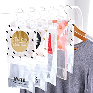 MR. STRONG 5 Pack Moisture Absorber & Kitchen Bathroom Wardrobe Hanging Hygroscopic Anti-Mold Deodorizing Moistureproof Desiccant Bag ,Odor Eliminator Hanging Bag,Eliminates Musty Odors