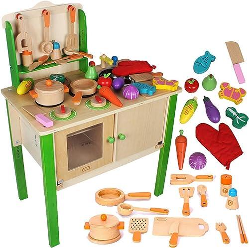 alto descuento Cocina Cocina Cocina Madera Juegos De ImitacióN para Niños Cocinita De Juguete Accesorios Cocinar Los Alimentos  connotación de lujo discreta