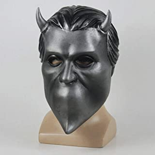Ghost B.C. Mask Nameless Ghoul Mask Full Head Costume Helmet Halloween Party Xmas Cosplay Latex Props Gray