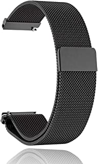 BETTER-NEE Compatible Watch Band,Milans Loop Stainless Steel Magnetic Metal Replacement Strap,Magnet Lock for i Watch Series 1/2/3/4 42mm 44mm Black