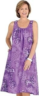 Sleeveless Shift Dress Print Sundress Coverup with Side Pocket