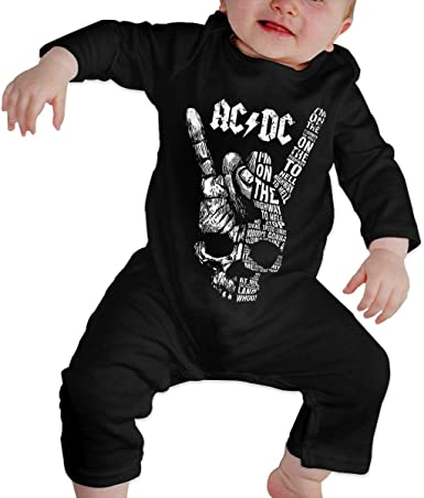 BAOQIN - Camiseta para recién nacido ACDC Body de manga larga ...
