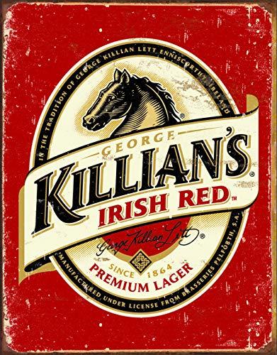 Desperate Enterprises Killian's Irish Beer Logo Tin Sign, 12.5