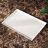 LWSJP Baño Cinco Piezas Traje de baño Suministros Blanca Kit de baño Set de Lavado Inicio Cerámica Accesorios Decorativos (Color : Blanco, Size : Tray)