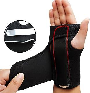 MQ Adjust Wristband Steel Wrist Brace Wrist Support Splint Fractures Carpal Tunnel Sport Sprain Mouse Hand Wristbands (right)