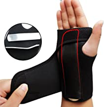 Adjust Wristband Steel Wrist Brace Wrist Support Splint Fractures Carpal Tunnel Sport Sprain Mouse Hand Wristbands (Right)