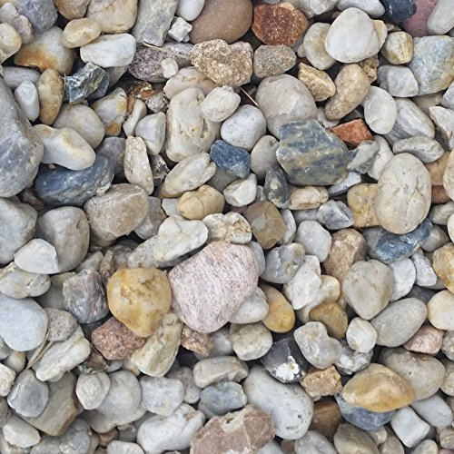 20 Kg Zierkies Gartenkies Teichkies Quarzkies Buntkies Kieselsteine Waschkies Bunt 8-16 mm