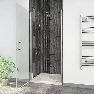 ELEGANT 32 in. W x 72 in. H Pivot Swing Shower Door, 3/16 in.Clear Glass Semi-Frameless Shower Door, Chrome Finish