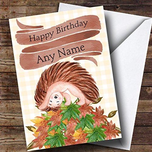 Speelse Egel op maat verjaardagswenskaart
