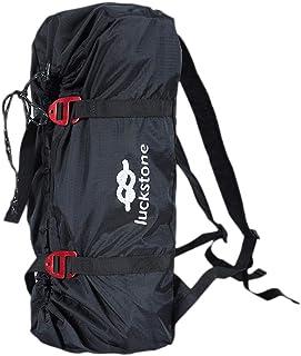 BIOOBO Bolsa de Almacenamiento de Equipo de Cuerda de Seguridad para Escalada Impermeable Mochilas (Negro 24 * 48 cm)