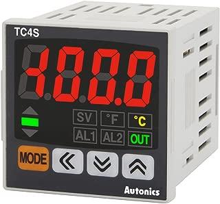 Autonics TC4S-14R Temp Control, 1/16 DIN, Single display, 4 Digit, PID Control, Relay & SSR Output, 1 Alarm Output, 100-240 VAC