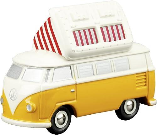 Dickie-Schuco 450515800 - Schuco - Piccolo VW T1 Campingbus mit ge netem Faltdach, gelb-creme