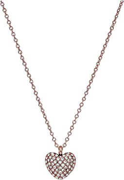 Michael Kors - Pavé Carved Heart Pendant Necklace