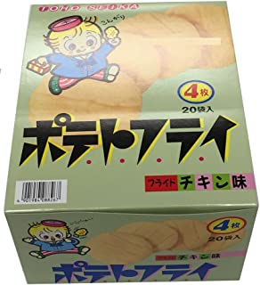 TOHO 東豊製菓 ポテトフライ フライドチキン味 4枚入(11g) 1ボール(20個入)...