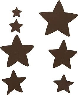 Darice Bulk Buy DIY Metal Shapes Rusted Stars 7 Pieces (3-Pack) 6551-82