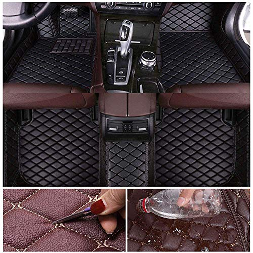 Custom Car Floor Mats for Lexus GS350 2012-2017 Leather Custom Fit All-Weather Protection Floor Liners Waterproof Foot Pad Carpets Black