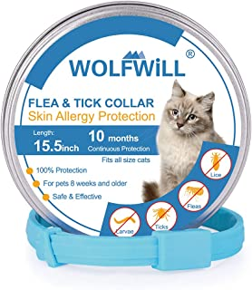 WOLFWILL Collar de Pulgas y Garrapatas para Gato,Acción
