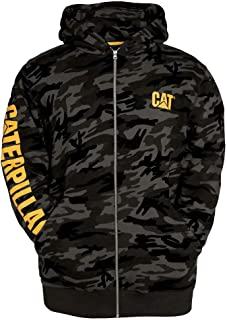Caterpillar Men's Full Zip Hooded Sweatshirt (Regular and Big & Tall Sizes)